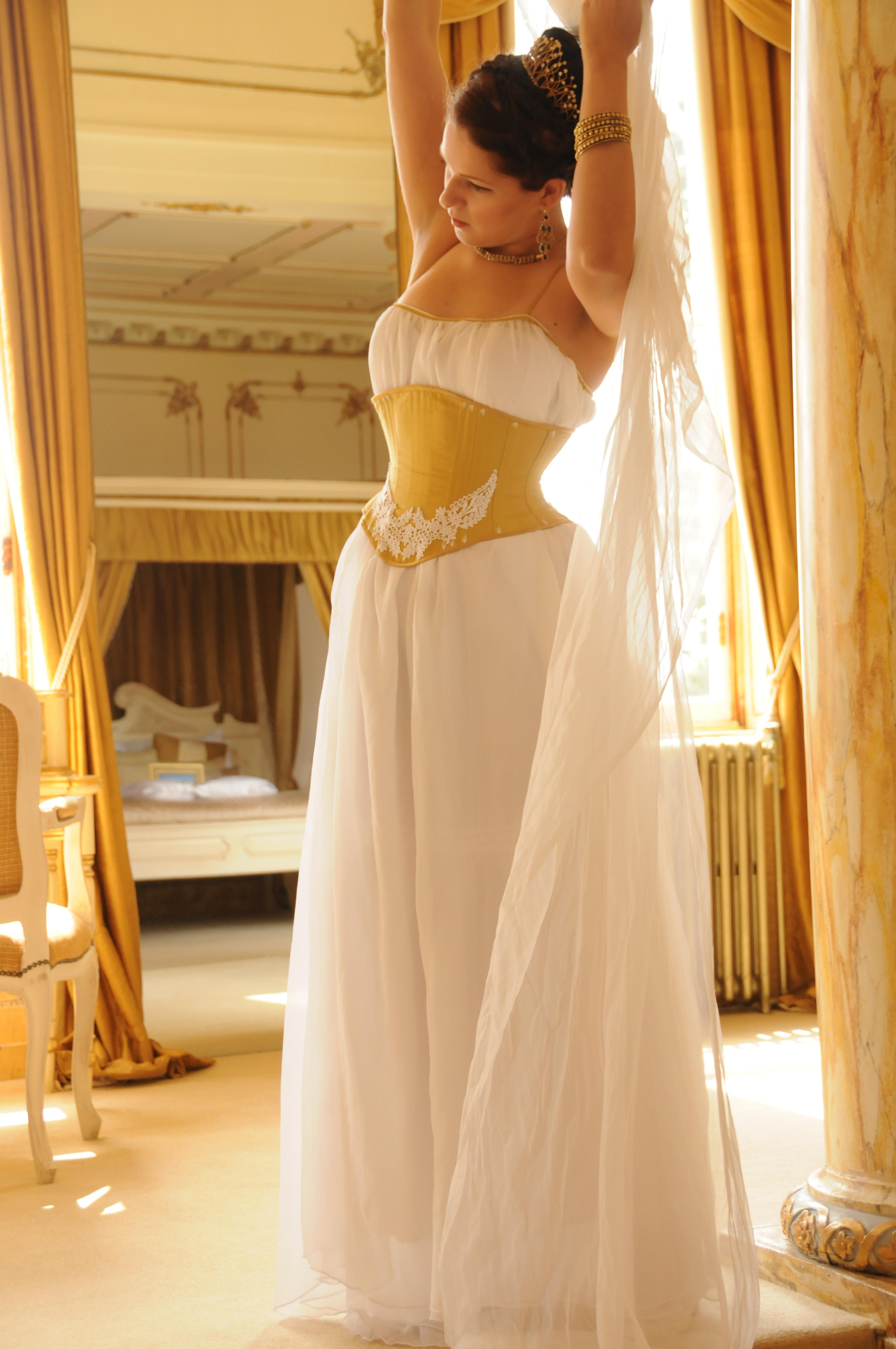 Orange Corset Wedding Dresses