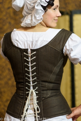 corded corset for the 1830-40 styles