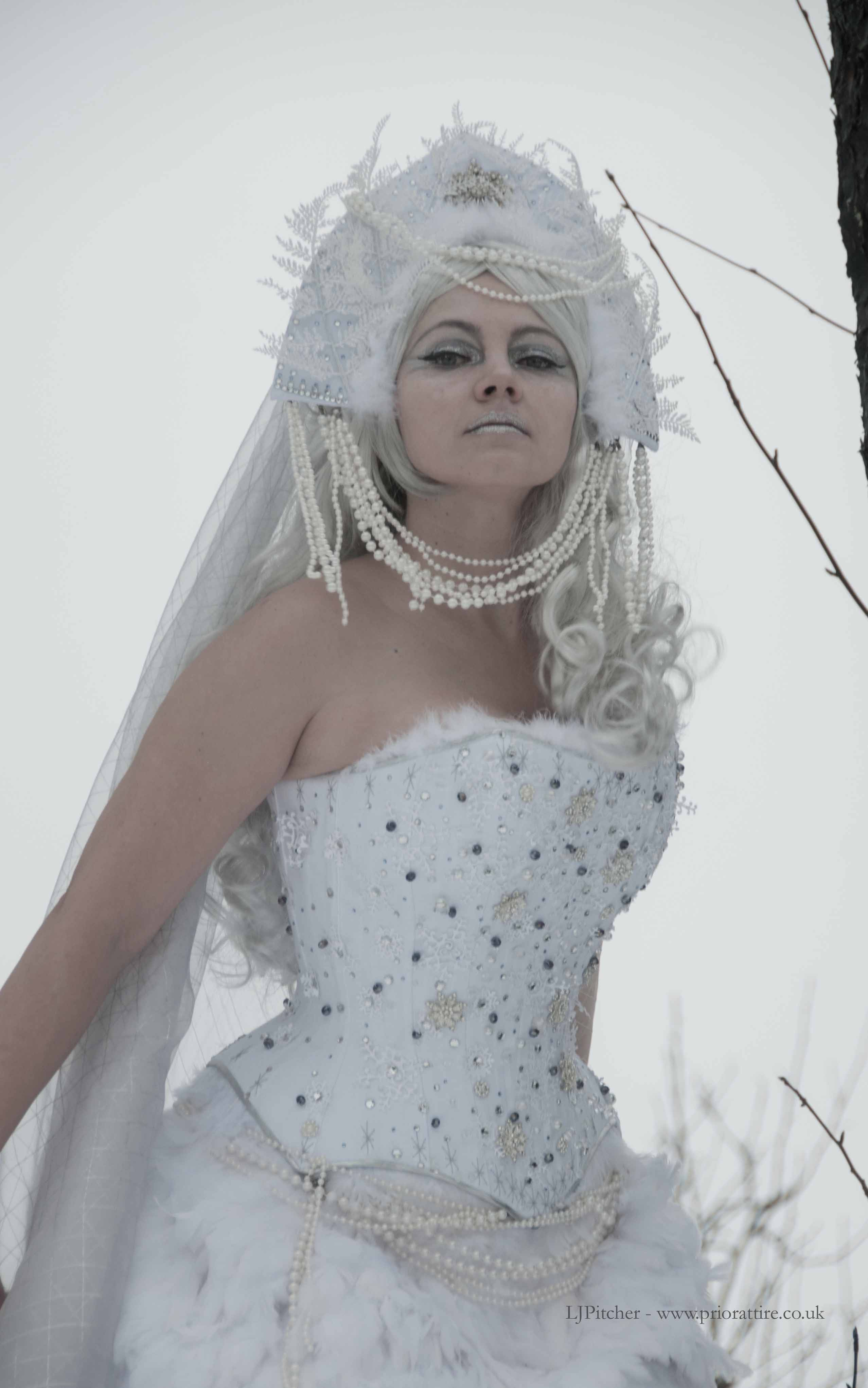 snowflake corset | A Damsel in This Dress