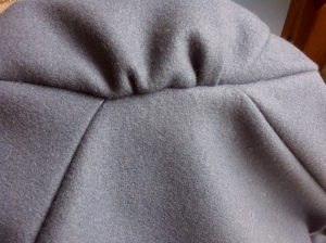 16.sleeve inserted- the detail of gathered sleeve head