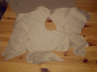 23. lining pieces cut out