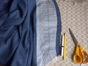 31. drawing the pattern on the paper