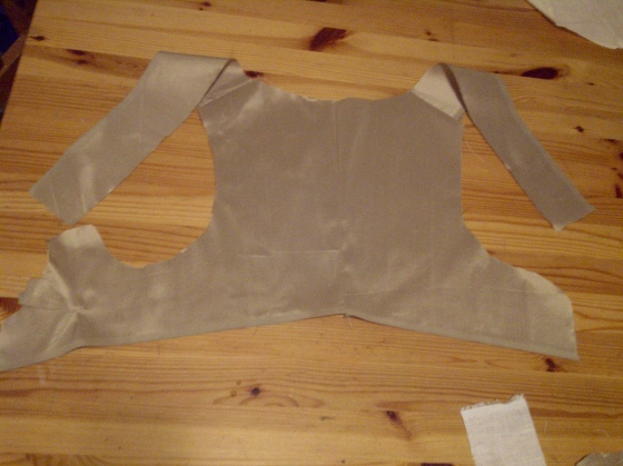 4. top fabric sewn together