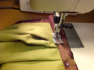 13.sewing the waistband