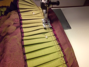 21. ruffle being sewn