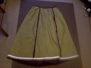 24. skirt on the inside