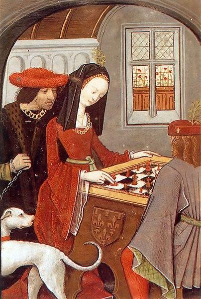 Charles d'Angoulême et Louise de Savoie jouant aux échecs