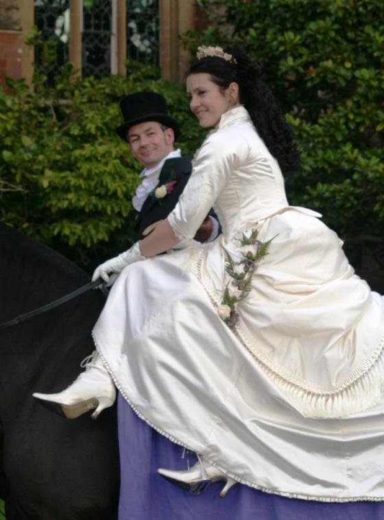 12. the skirt in action - note the delicate edging of the ruffle