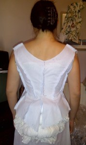 16. evening bodice mock up, back