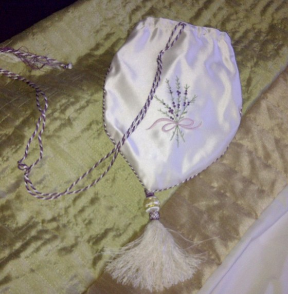 26. the silk purse, embroidered with silk threads by Sand Raidy, tassel and cord by Gina Barrett