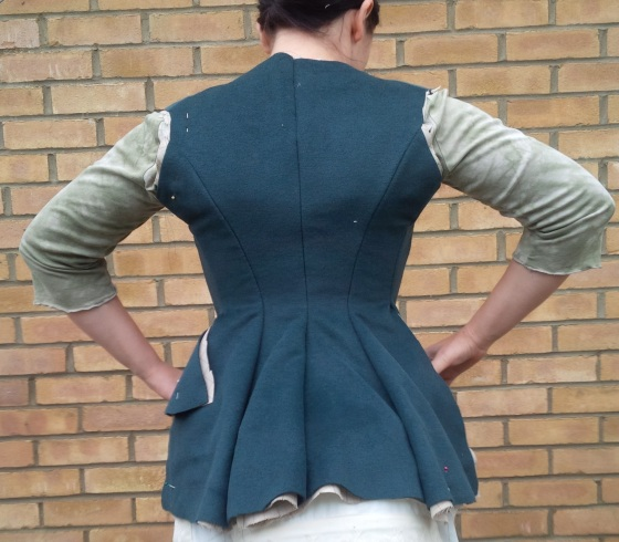 29. back looking good, though the back seem needs to have waistline lowered by about half inch