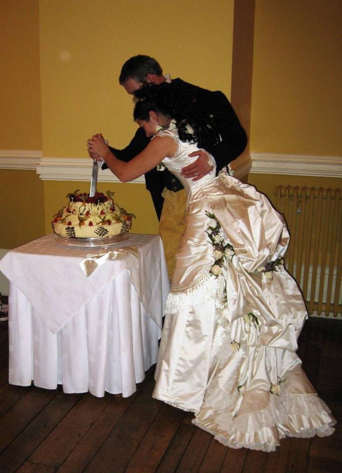 Making my victorian wedding dress part 1 a damsel in for Victorian bustle wedding dress