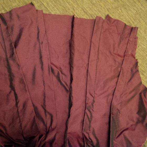 11a. back piece pleated, inside view-just the seam needs finishing-)