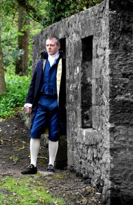 210412 Allan Burnett as james watt at kinniel house, boness.