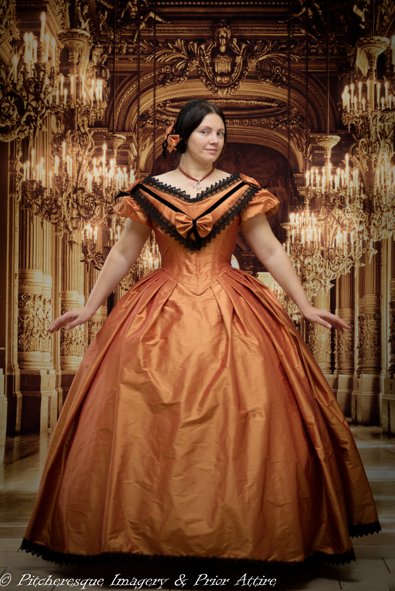 Making a Mid Victorian Ball Gown | A Damsel in This Dress