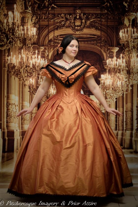 1860 Gown Orange (3)
