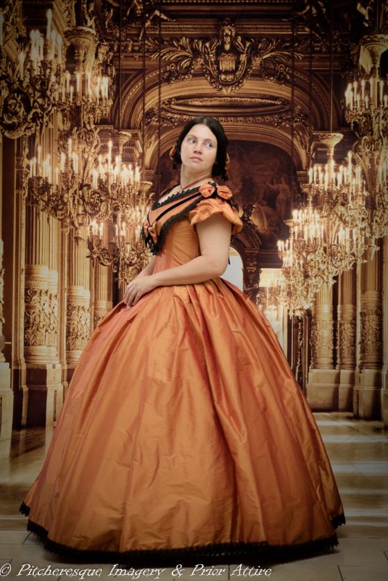 1860 Gown Orange (7)