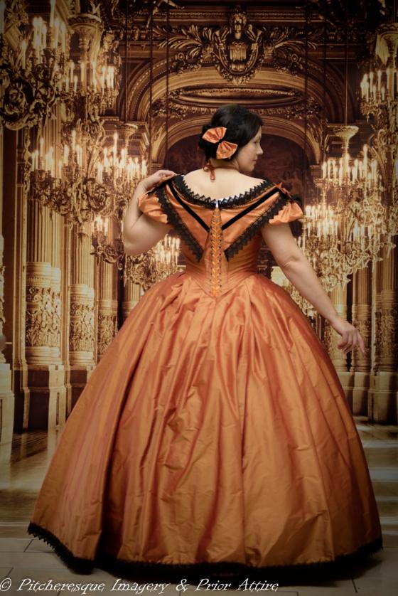 1860 Gown Orange (9)