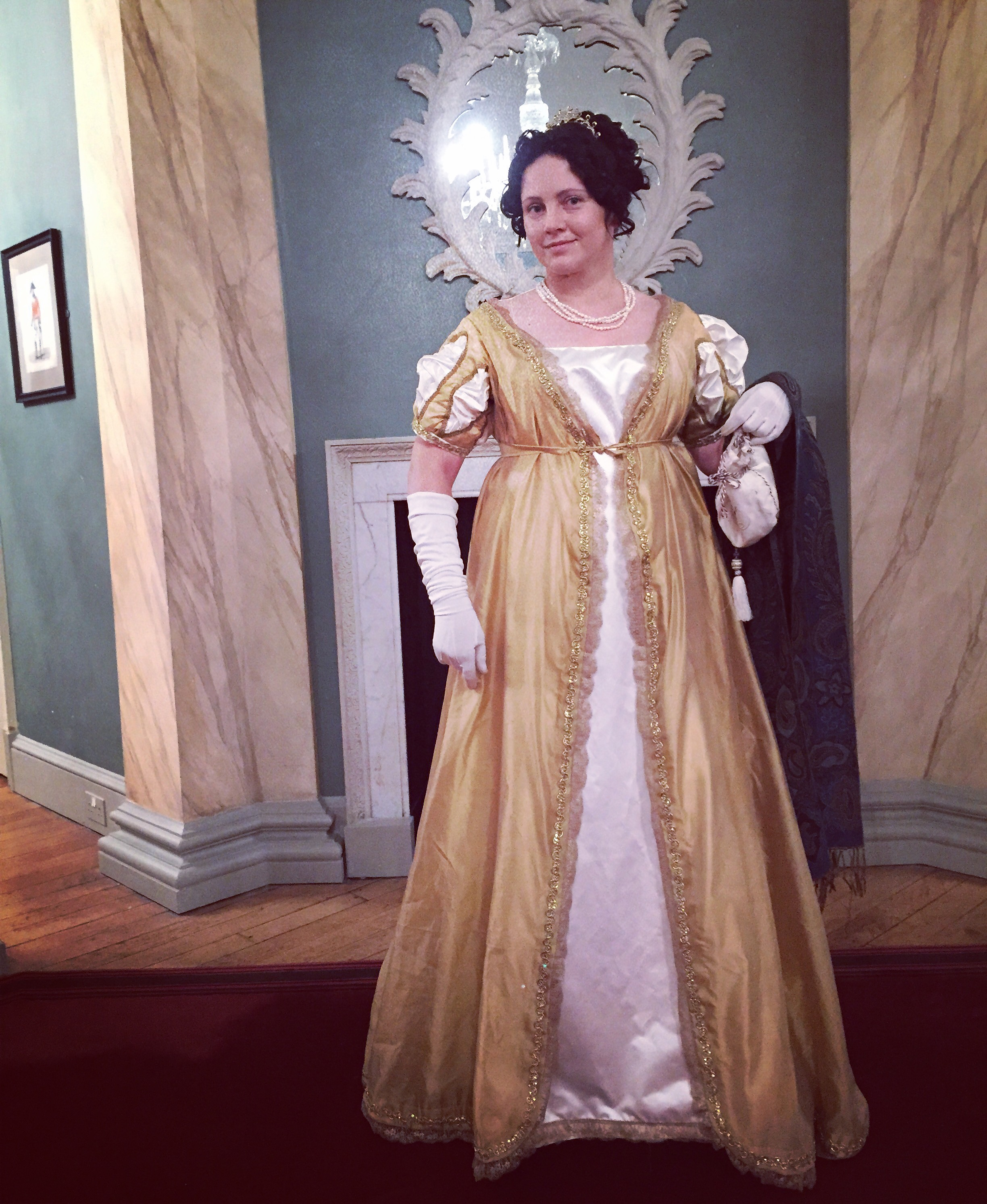 The Gold Gown, market and a Regency Ball 2015 | A Damsel in This Dress