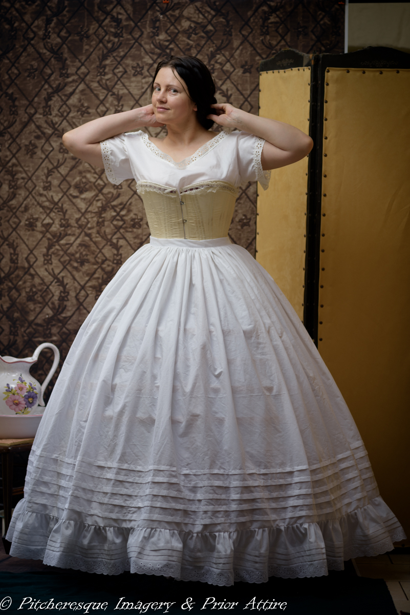 Mid Victorian Undergarments: chemise, drawers and a petticoat | A ...