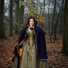 1830s Gown and Hooded Cloak (52)
